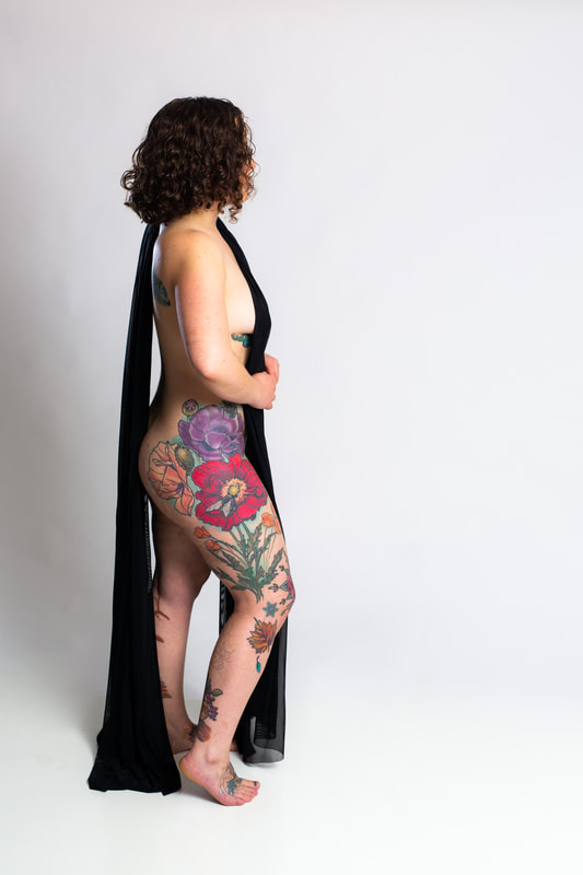 color tattoo tattoos woman floral flowers poppy hips Portland Oregon